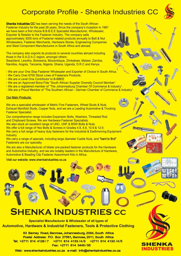 Shenka Industries Company Profile